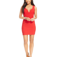 Emerald Sundae Juniors' Bodycon Cutout Dress