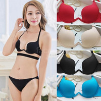 New Fashion Women Sexy Bra Deep U Low Cut Push Up Lingerie Backless Bra Brassiere Underwear G0929|28801 = 1932942212