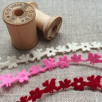Hearts, Birds And Flowers Felt Ribbon Trim