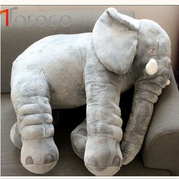 TOFOCO Popular Infant Pacify Dolls 33cm/ 40cm Plush Animal Soft Stuffed Elephants Color Pink/ Grey Available