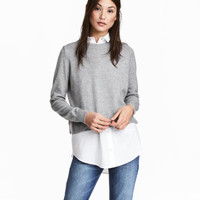 H&M Sweater with Shirt Collar $24.49