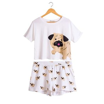 Pug Pajamas Womens