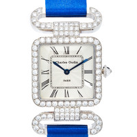 18K White Gold Diamond Rose Retro Watch | Moda Operandi