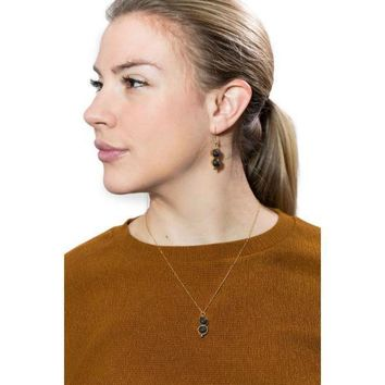 Dueling Stones Essential Oil Diffuser Necklace and Earrings Set