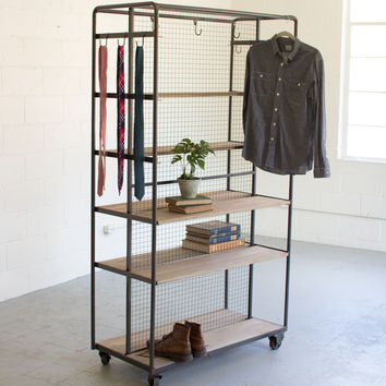 Shelving-Storage Unit On Metal Casters