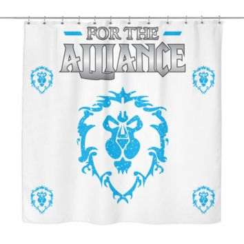 """World of Warcraft """"For the Alliance"""" Shower Curtain"""