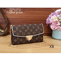 LV Louis Vuitton Classic Checkerboard Tote Shoulder Bag Crossbody Bag F-OM-NBPF Coffee print