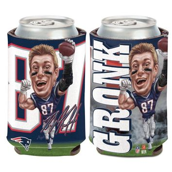 ROB GRONKOWSKI GRONK #87 NEW ENGLAND PATRIOTS CARICATURE KADDY KOOZIE CAN HOLDER