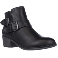 Seven Dials Yosepha Motorcycle Ankle Boots - Black