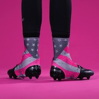 American Clutch Pink Spats / Cleat Covers