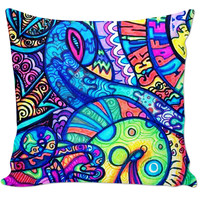 Trippy Couch Pillow