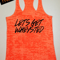 Tank Top of the Month. Let's Get Wheysted. Workout Tank Top. Running Tank. Crossfit Tank. Fitness Tank. Funny Tank. Gym Shirt. Free Shipping