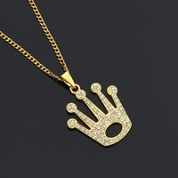 Gift New Arrival Jewelry Stylish Shiny Alloy Crown Necklace [10768845059]