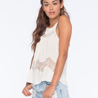FULL TILT Lace Inset Womens Tank | Gypset