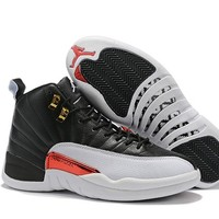 2019 Air Jordan 12 Retro AJ 12 Black/White Men Basketball Shoe