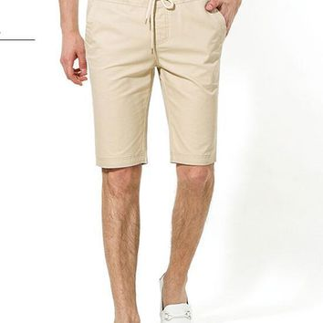 2017 Promotion Limited Short 100% Cotton Summer Thin  Pants Male Knee-length Plus Size Casual Elastic Strap Beach