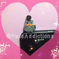 Pusheen Cat Polymer Clay Dust Plug