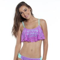 SO Crochet Flounce Bikini Top