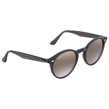 Ray Ban Brown/Violet Gradient Mirror Round Sunglasses RB2180 623094 49