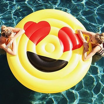 Emoji Pool Float Sunglasses Emoticon Inflatable Swimming Broad Cool