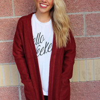 Soft solid cardigan-more colors