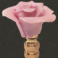 0-003660>Blush Rose Open Petal Lamp Finial
