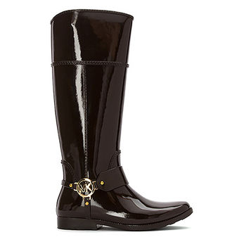 MICHAEL Michael Kors Fulton Harness Tall Rain Boot | Women's - Dark Chocolate