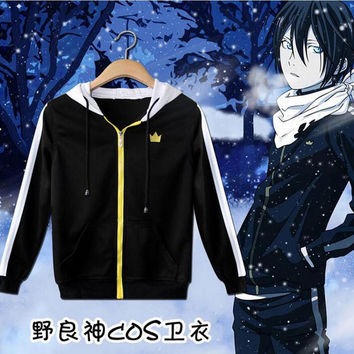 Anime Noragami Yato Cosplay Unisex Casual Sweatshirt Hoodie Jacket Coat