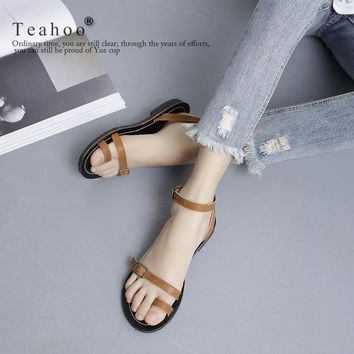 Design Stylish Flat Summer Shoes Korean Sandals [11503345812]