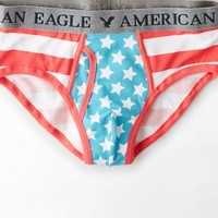 AEO Men's Stars & Stripes Classic Brief (Red)