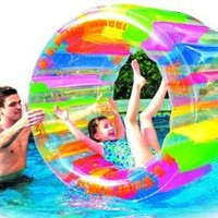 """Water Wheel - Giant Inflatable Swimming Pool Water Wheel Toy (49.2"""" X 33"""")"""