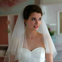 Elegant bridal wedding veils one layer 75cm and 100cm white veil for wedding party 2017 new arrival