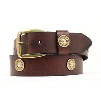 Nocona Men's Western Leather Shotgun Shell Belt-Brown