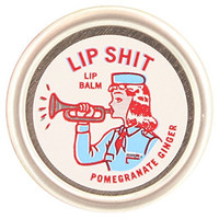Blue Q Lip Shit Lip Balm Pomegranate Ginger 0.3 oz