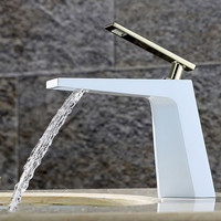 Chrome Finished Bathroom Sink Faucet Waterfall 5 Colors