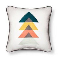 White Embroidered Triangles Throw Pillow - Room Essentials™