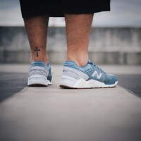 New Balance 009 Speckle Suede 'Blue Rain with Silver Mink'