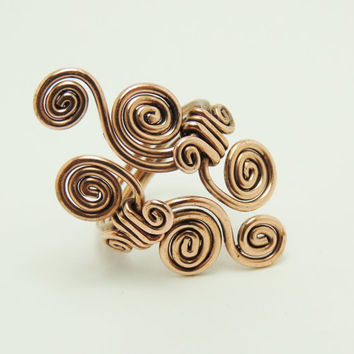 curly ring - handmade jewelry by Dereck Maltez