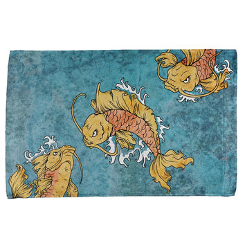 Japanese Koi Fish Tattoo Style All Over Hand Towel