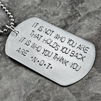 Handstamped Dog Tag Necklace - Stainless Steel Hypoallergenic - The Judah Design