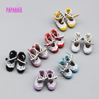 12 Inch Leather Lace Shoes For blyth Dolls shoes (suitable for blyth ,AZ ,licca,Pullip doll ) 2.8*1.3cm