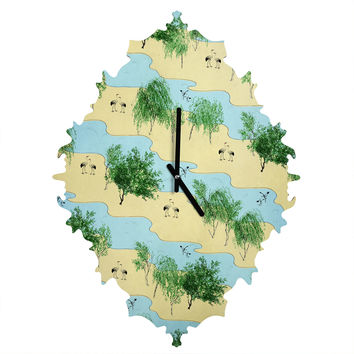 Belle13 Crane River Baroque Clock