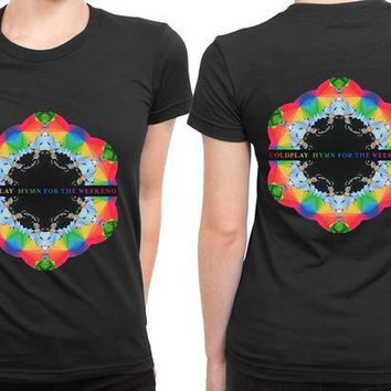 CREYP7V Coldplay Hymn For The Weekend 2 Sided Womens T Shirt