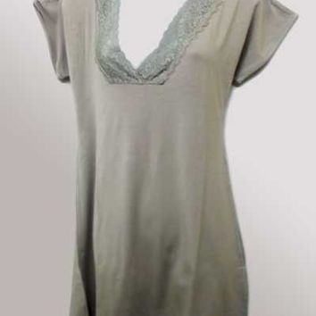 Bamboo Lace Nightgown