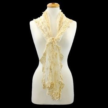 Scarf - Lace Cream