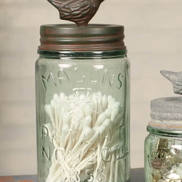 Pint Mason Jar with Songbird Lid