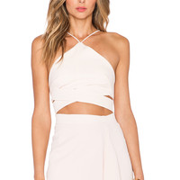 NICHOLAS Bonded Criss Cross Band Top in Ballet