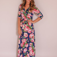 What Dreams Are Made of Maxi Dress - Navy