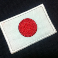 Japan Flag (6cm x 4 cm) Embroidered Iron on Applique Patch World Flag (B)
