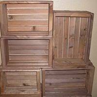 Set of Three Nesting Pine Boxes or Crates